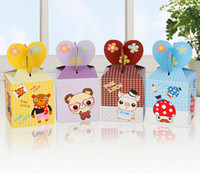 Wholesale New style Christmas gift wrap cartoon design apple boxes new year gift box mix colour shipping free