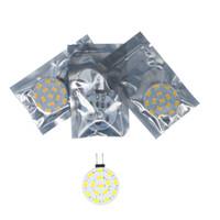 Acheter G4 blanc bulbe-G4 DC12V 2W 15 SMD 5630/5730 Ampoule à LED ronde Ampoule de Maïs blanc / blanc chaud Spot lumière Livraison gratuite