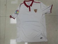 Wholesale Hot Sale Sevilla Jerseys Home White BANEGA BANEGA REYES Power Case Uniform Shirts