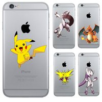 Wholesale Pokemons Pikachus Charizard Blastoise Squirtle Transparent Silicone Soft TPU cover print phone case for iphone s PLUS