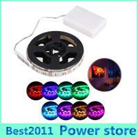 battery diode - Waterproof led strip RGB SMD Flexible Lights V Battery powered LED Lighting Mini Controller led tape light Diode Tape