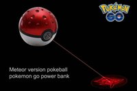 ar ball - Newest Poke power bank mAh for Poke AR game powerbank with Poke ball LED light portable charge figure toys