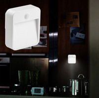 Wholesale The new European style retro night light square sensor light dual sensin Square night light corridor bedroo toilet body sensor wall lamp