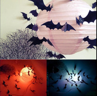 adult wall stickers - Hot Black D DIY PVC Bat Wall Sticker Decal Halloween Festival Decoration Party inlcluding