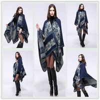 Wholesale Fashion Autumn and winter scarves flowers scarves Ladies Travel Shawls wool thicken the cloak Printing scarf women shawls A0347
