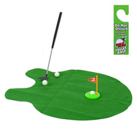 Wholesale Funny Toilet Bathroom Mini Golf Mat Set Potty Putter Putting Game Men s Toy Novelty Gift