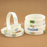 Wholesale Brazil Rio2016 Olympic Games flag silicone bracelet jelly bracelet can be customized factory whosale countrys at least