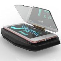 Wholesale Universal Car GPS Navigation HUD Glass Reflector Projector Mount Bracket Head Up Display Way For iPhone Samsung Smart Phone Holder