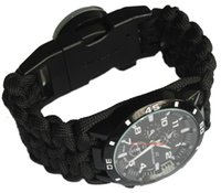 army bracelet - Paracord Survival Wrist Watch US Navy army Military Tactical Bracelet