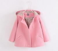 Wholesale New Children s coat han edition girls double breasted hooded baby cloth coat dust coat Girls coat