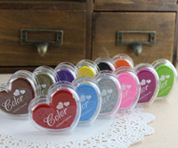 Wholesale New Lovely colors Ink Pad for choise Handmade Inkpad Stamp Scrapbooking Funny Work