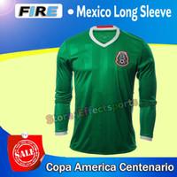 uniform shirts - 2016 Copa America Centenario Mexico long sleeve soccer jerseys Uniforms P AGUILAR CHICHARITO G DOS SANTOS O PERALTA football shirts