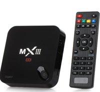 Amlogic S802 Quad Core TV Box Android 4.4 4K MXIII 2G 8G Bluetooth Wi-Fi XBMC Mini PC Google IPTV Reproductor de medios Miracast Dongle MX III