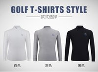 Wholesale Men Brief Figuring Style Long Sleeve Shirts Mens Golf Apparel Workout Shirt Mens Long Sleeve Thicker and Warmer Can Be Underwear