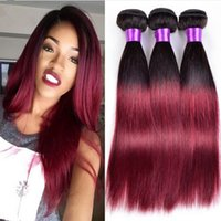 best black hair dyes - The Best Quality Human Hair in in In Stock Ombre b J Ombre Black Burgundy Brazilian Virgin Hair Weft