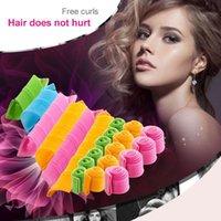 Wholesale DIY MAGIC LEVERAG Magic Hair Curler Roller Magic Circle Hair Styling Rollers Curlers Leverag perm In stock