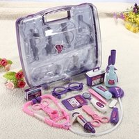 Wholesale Kids Children Pretended Doctor s Nurse Medical Play Set Carry Case Kit Roll Play Toy Gift CWF