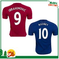 memphis - 16 IBRAHIMOVIC POGBA United Soccer Jerseys Uniforms HOME RED SCHWEINSTEIGER MEMPHIS MATA ROONEY Men Manchesterees Football shirts
