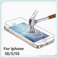 0.26mm 9H para la película protectora del SE 5 5S del iPhone Protector de cristal templado verdadero superior de la pantalla de la película de la alta calidad con el paquete que envía libremente