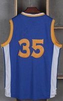 Wholesale New Jersey Basketball Jerseys Golden State Jersey Blue And White Color Size S XXL Stitched Hot Jerseys Cheap Price High Quality