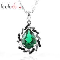 best brand cocktails - 2014 New Vintage Jewelry Brand Women s Emerald Spinel Cocktail Pendants Solid Sterling Silver Best Gift