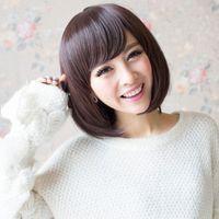 Wholesale 1PC Generic Korean Short Hair Women Bobo Head Fluffy Wig Fashion Straight Tilted Frisette Style Wig Bobo Hair Full Wigs
