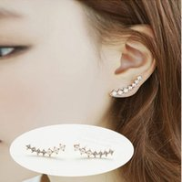 big dipper - BK New Fashion Hot Selling Pendientes Simulated Pearl Jewelry Rhinestone Big Dipper Stud Earrings For Women E14 E15