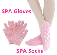 Wholesale 1 Pair of socks Pair of gloves SPA Gel Moisturizing Gloves socks Whiten Soften Skin joh