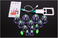 Wholesale 12pcs set Chinese BRAND Pull Out Vacuum Apparatus Cup Cupping Therapy Apparatus Body Massage Retail