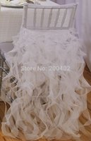 Wholesale white organza chair cover for weddings