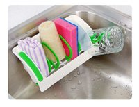 baskets for shelves - Colorful Sink Drain And Rack Shelving Storage Basket With Suction Cups Drain Shelf For Dishwashing Sponge