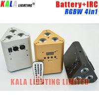 Wholesale Disco DJ Party Wedding Mini Durable Battery Par Can X10W RGBW Quad color in1 LED Wash PAR Uplight With IRC Control