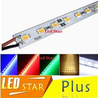 Wholesale 100M Hard Rigid Bar light DC12V led m SMD Aluminum Alloy Led Strip light For Cabinet Jewelry Display