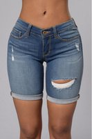 american apparel denim - New Hot Summer Women Low Waist Hole Ripped American Apparel Shorts Jeans Boyfriend Skinny Pencil Denim Ripped Jeans Shorts