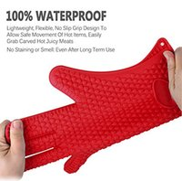 Cheap akeware Oven Mitts Walfos brand 1 pc unisex Heat Resistant Silicone rubber BBQ Grill Glove for cooking oven Glove- Kitchen Oven mitts-kit...
