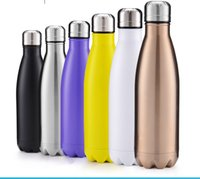 Wholesale Swell Vacuum Cup Coke Mug Stainless Steel Insulation Cup Thermoses Fashion Veined Marble Kettle Sports Outdoor Bowling Shape Cup ML D92