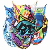 Wholesale Ski Snowboard Fleece Face mask Motorcycle Winter Warmer Sport Full Face Mask Pirates D Printed Triangular Scarf Skiing Mask