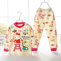 pajamas for children - 100 Cotton Autumn Winter Children Baby Clothing Sets Long Sleeve Infants Pajamas for Y Newborn Baby Boys Girls Bodysuit