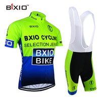 Wholesale Clothes Cyclist - BXIO Brand Cycling Jerseys Pro Short Cycle Wear Sets for Cyclist Compressed Lycra Polyester Cycle Summer Clothing Bikes Clothes BX-0209G-004