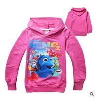 Wholesale Finding Nemo Dory Baby Boys Tops New Cartoon Printed Long Sleeve Hooded Kids Hoodies Autumn Children Girls Sweatshirts CX312