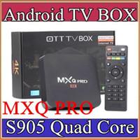 Wholesale 15X MXQ Pro K TV Box Amlogic S905 Quad Core Android Ultra K Streaming Kodi16 full load Android Box MXQ pro with WiFi HDMI DLNA D TH