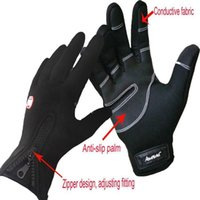 baseball screen - 2016 Touch screen Gloves outdoor Cycling gloves shimano football baseball bicycling winter warm carrera Riding Bicycle gloves