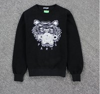 bape fashion - New fashion embroidery tiger men women s fall winter pullover hoodies tiger embroidery sweatshirt hoodie colors