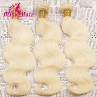 Cheap 7A Grade Natural Blonde Human Hair Weave European 613 Blonde Hair Extensions Body Wave Brazilian Hair Extension Peruvian Indian Russian Hair