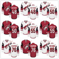 laurent - 2016 NHL Ice Hockey Arizona Coyotes Jerseys Jordan Martinook Antoine Vermette Henrik Samuelsson Laurent Dauphin Jamie M
