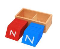 Cas de développement France-Jouets Montessori Lower Et Capital Case Sandpaper Lettres Boîtes Jouets en bois pour l'éducation Cadeau développement des jeunes enfants