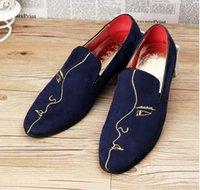 Los hombres hechos a mano de los zapatos oxford España-Cara impresa de cuero genuino hechas a mano Zapatillas Zapatos Casual de los hombres de los planos Hombre de diseño de conducción zapatos Retro cuero Oxfords Partido Zapato