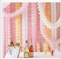 Wholesale Clover paper garland wedding marriage room layout window decoration shop birthday party