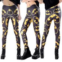 batman leggings - New Arrival Sexy Girl Women Comics Batman Superhero fans D Prints Running Jogging Elastic GYM Fitness Sport Leggings Yoga Pant