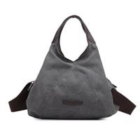 Wholesale New Retro Canvas Handbag Women Shoulder Cross body Bag Fashion Casual bags Designer High Quality Handbag Large Capacity Bag
